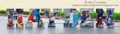 Paper Creations by Kristin: 3D Pop Up Letters-HAYDEN