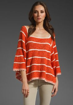 Free People Orange and Cream Cape--not so big into the cape craze, but is this not divine?