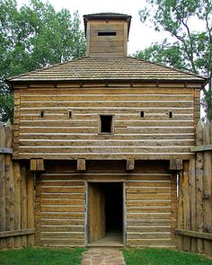 Blockhouse, Fort Massac State Park, Metropolis, Illinois (pinned by haw-creek.com)
