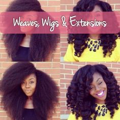 Weaves wigs and extensions