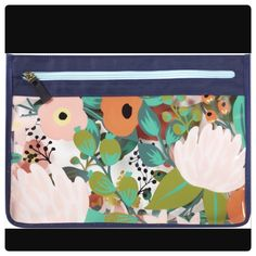 New Ulta Beauty Floral/Clear Pouch With Top Zipper