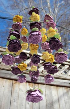 Swarovski Perla Rose móvil con glicinias, Hortensia, mostaza y plátano -3 Antigue blanco Butterfliesstyle (anillo de 10 pulgadas) 3