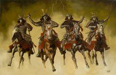 The Four Horsemen of the Apocalypse by jcarrillo studios