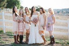 Rustic Elegance - Bridesmaids! photography by pictilio.com