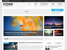 Point Free WordPress Theme - CoolHomepages Web Design Gallery