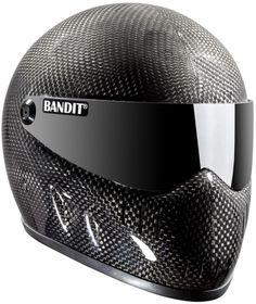 Like a carbon-fiber Stig helmet