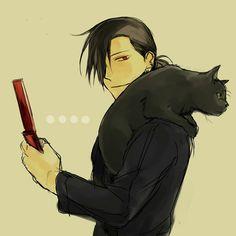 Fullmetal Alchemist: Greed and a black cat