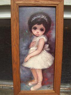 Super Kitsch Ozz Franca Ballerina Sad Big Eyed Girl