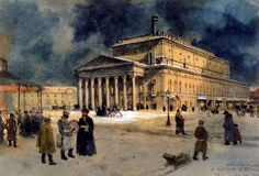 Benois, Alexandr (1870-1960) - 1939 The Bolshoi Theater in St. Petersburg in 1885 (Private Collection) | by RasMarley