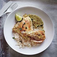 Slow Cooker Chicken Verde Recipe | MyRecipes.com