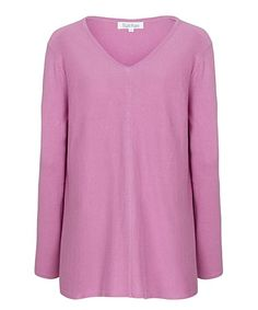 Foxglove Pink V-Neck Sweater