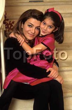 The late Princess Leila Pahlavi with her niece Princess Noor