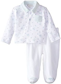 1e593c7fca Quiltex BabyBoys Newborn 2 Piece Footed Pant Abc Print Playwear Set Blue 6  Months     Click image for more details.Note It is affiliate link to Amazon.