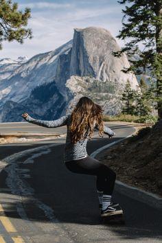 Skate girl Yosemite  Skateboarding