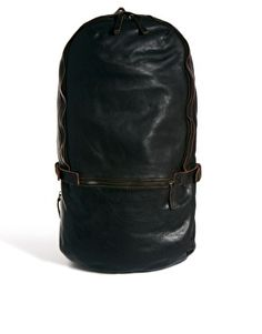 Royal RepubliQ Leather Sack Backpack