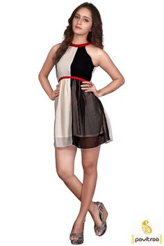 Off White and Black Midi Skater Dress Western One Piece Dress #Onepiecedressonline #WesterndressesonlineIndia #Westernmididresses More: http://www.pavitraa.in/store/western-dress/?utm_source=hp&utm_medium=pinterestpost&utm_campaign=27Oct Offer: Flat 20% Off Free Shipping + COD Service In India More Details : Call / WhatsApp : +91-75750-33399
