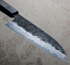 Tall Oak Santoku 190mm custom chef knife handmade in Australia by Robert Trimarchi of The Nine.