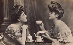 an age old custom of girlfriends solving their problems over tea