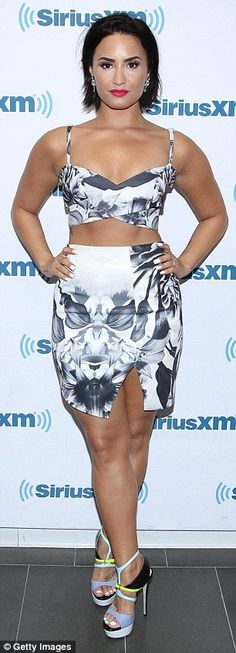 Defensive: Demi Lovato took to Twitter on Wednesday to shoot down claims that her new sing...
