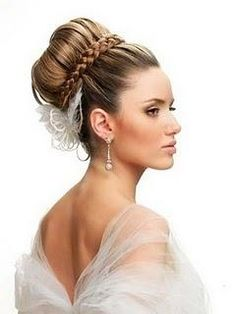 Wedding Hairstyles ~ Up~do with plaid hairband