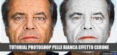 Tutorial photoshop per realizzare un effetto cerone sul viso in modo realistico, adatto in diverse occasioni come vampirizzazioni...