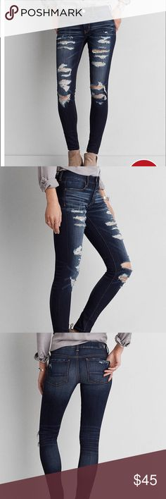 AEO Jeans New American Eagle jeggings size 6 Short American Eagle Outfitters Jeans