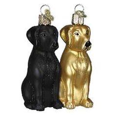 Labrador Retriever Black European Hand-Blown Glass Ornament by Joy ...