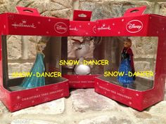 Elsa Olaf Anna Disney Frozen Hallmark 2014 Ornaments Set of 3 | eBay