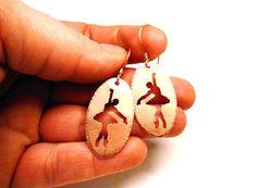 Handmade Ballerina Earrings Copper by SnazzyTrinkets on Etsy, $30.00
