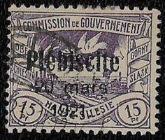 + 1921 Upper Silesia Dove over Terrain Plebiscite Overprint #33 A2 15pf Zellin