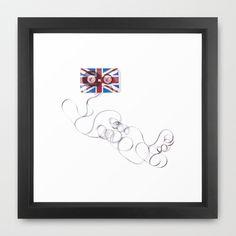UK Tape Framed Art Print by Matt Irving - $37.00