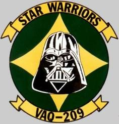 vaq-209 star warriors crest insignia patch badge electronic attack squadron us navy reserve