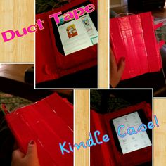 Made this case for my Kindle fire HD yesterday with duct tape and cardboard. Sorry, there is no tutorial.
