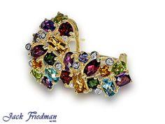 gemstones set in hoop earrings Multi Coloured Rings, Ring Earrings, Sparkles, Beautiful Things, Pendants, Brooch, Rainbow, Gemstones, Diamond