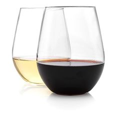 Unbreakable Wine glasses by TaZa - 100% Tritan Dishwasher-safe, shatterproof plastic wine glasses - Smooth Rims -Set of 4 - 16 oz