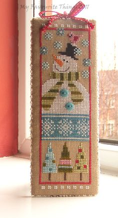 cute snowman cross stitch