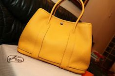 Hermes Garden Party tote in Soleil, love this color