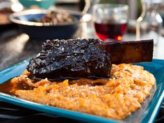 Grilled BBQ Short Ribs recipe from Guy Fieri via Food Network