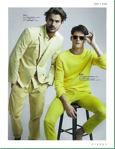 King Sweden Magazine July Issue...men's bright colored fashion
