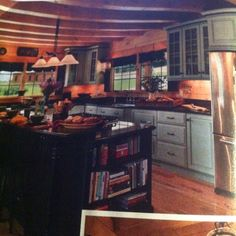 Cabin kitchen from log cabin homes magazine. Love it