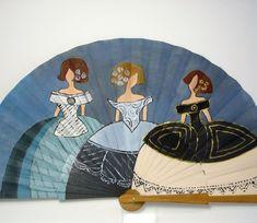 Trío de Meninas Easy Canvas Painting, Silk Painting, Hand Held Fan, Hand Fan, Fan Decoration, Female Drawing, Interior Design Living Room, North America, Diy And Crafts