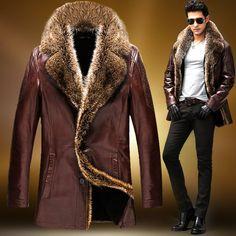 Зимние мужские кожаные куртки: пилот, на меху, с капюшоном