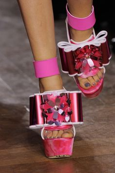 shoes @ John Galliano Spring 2014 www.bibleforfashion.com #bibleforfashion