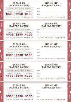 Raffle Ticket Template 2