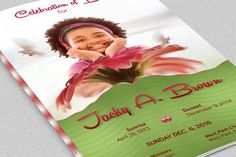 Black Dignity Funeral Program Template Is For A Modern Memorial Or