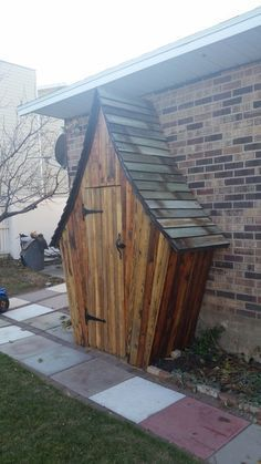 Looks like a shed. But what if it was a secret passage to a garden behind the wall?!...