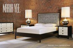 Monroe Bed | Beverly Nightstands and Dresser