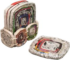 Recycled Paper Coasters