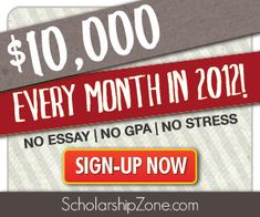 Super Easy Scholarship!  No essay!  #college #scholarships