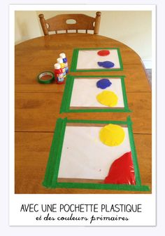 Mess-free finger painting for kids. Paint in ziplock bags, taped to table. Great distraction, no mess! -I would even play with this! Kids Crafts, Craft Activities For Kids, Toddler Crafts, Projects For Kids, Summer Activities, Craft Ideas, Crafts With Toddlers, Playgroup Activities, Infant Crafts